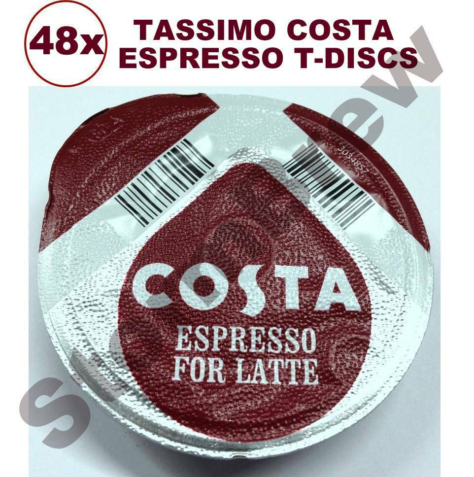 48x tassimo costa espresso coffee t discs loose expresso pods latte cappuccino ebay. Black Bedroom Furniture Sets. Home Design Ideas