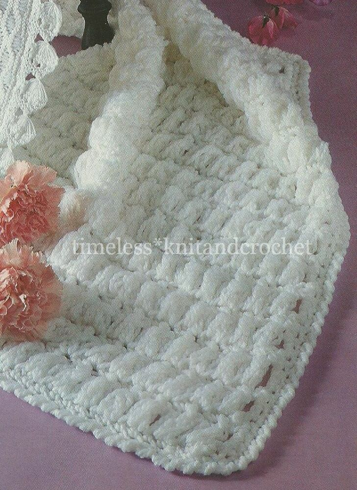 Crochet Baby Blanket Patterns Popcorn Stitch : VINTAGE CROCHET PATTERN FOR BABY / BABIES PRAM COVER ...