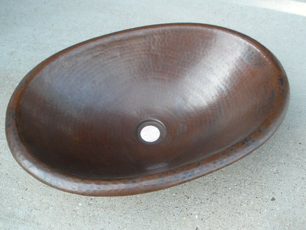 ... Oval Lavatory Sink Basin Drop in NEW Rustic Eco friendly sinks eBay