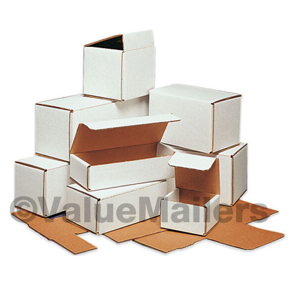100 12x4x2 white corrugated shipping packing box boxes mailers ebay. Black Bedroom Furniture Sets. Home Design Ideas