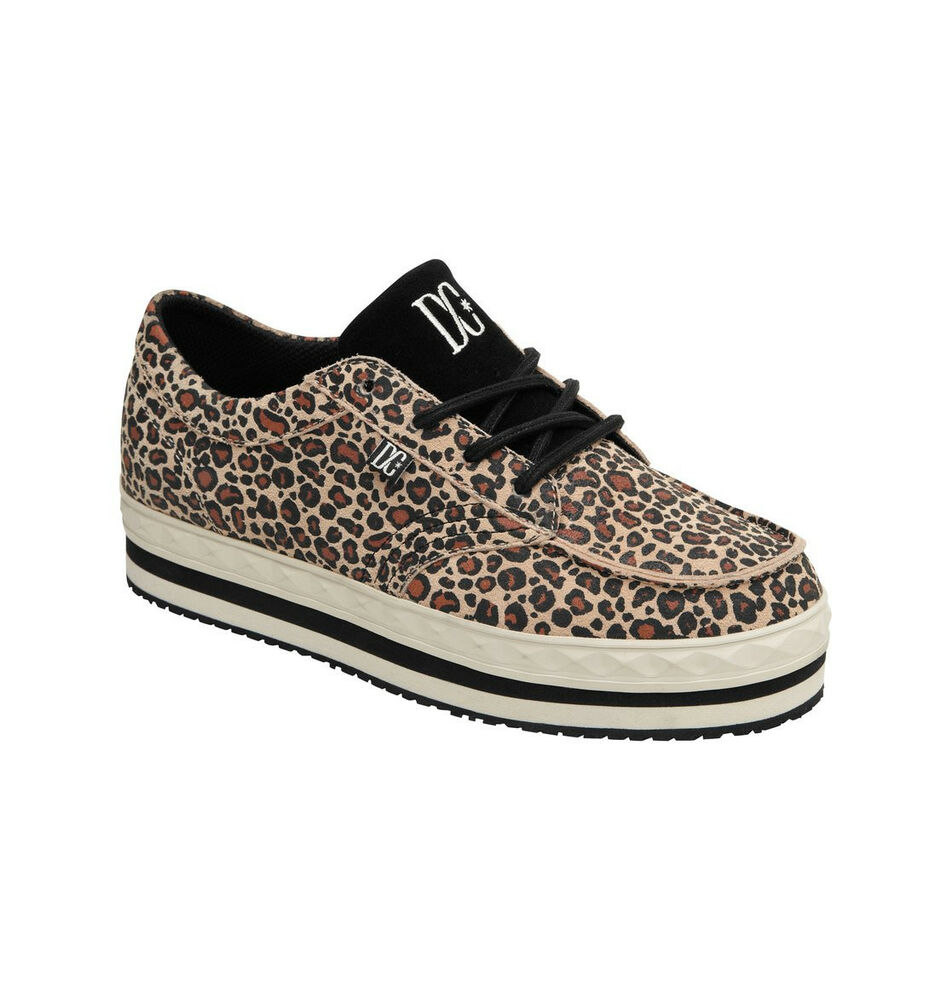 dc creeper womens shoes new sizes 6 8 leopard print sneakers free shipping ebay. Black Bedroom Furniture Sets. Home Design Ideas