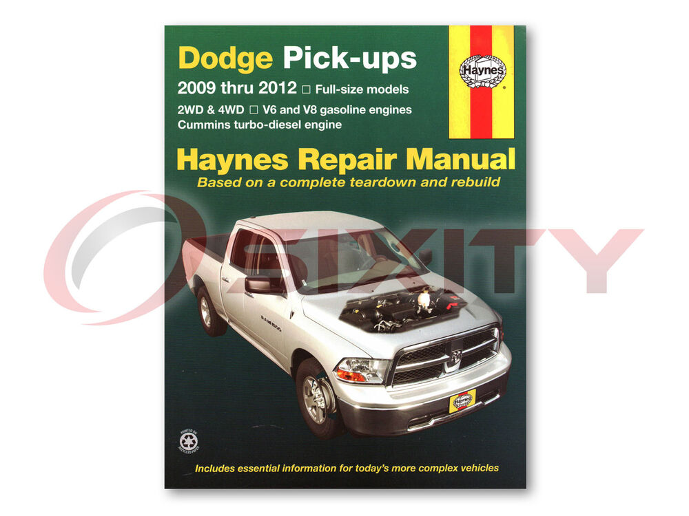 dodge ram 1500 haynes repair manual laramie slt sport trx4. Black Bedroom Furniture Sets. Home Design Ideas