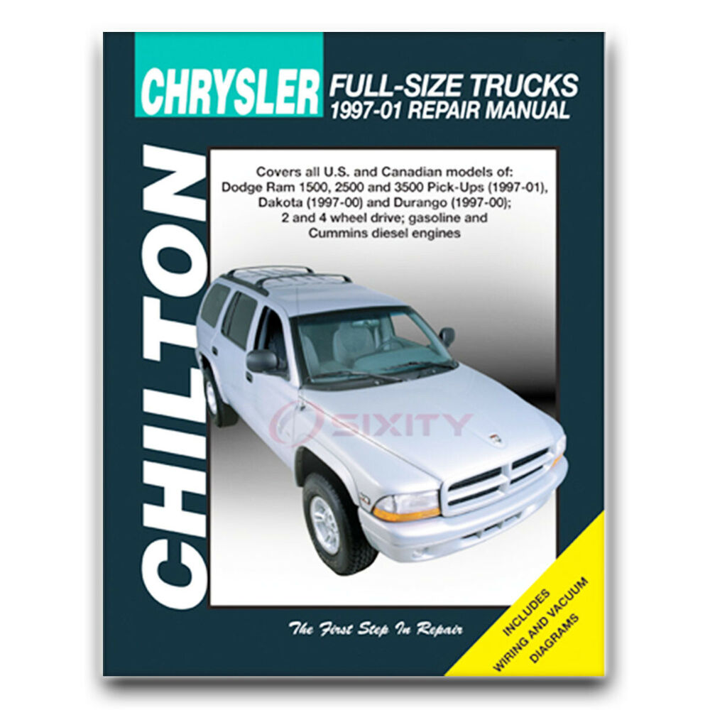 Details about Chilton Repair Manual for 1997-2001 Dodge Ram 1500 - Shop  Service Garage fq