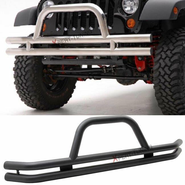 Jeep Grill Guards And Bumpers : Jeep wrangler cj black powder coated front