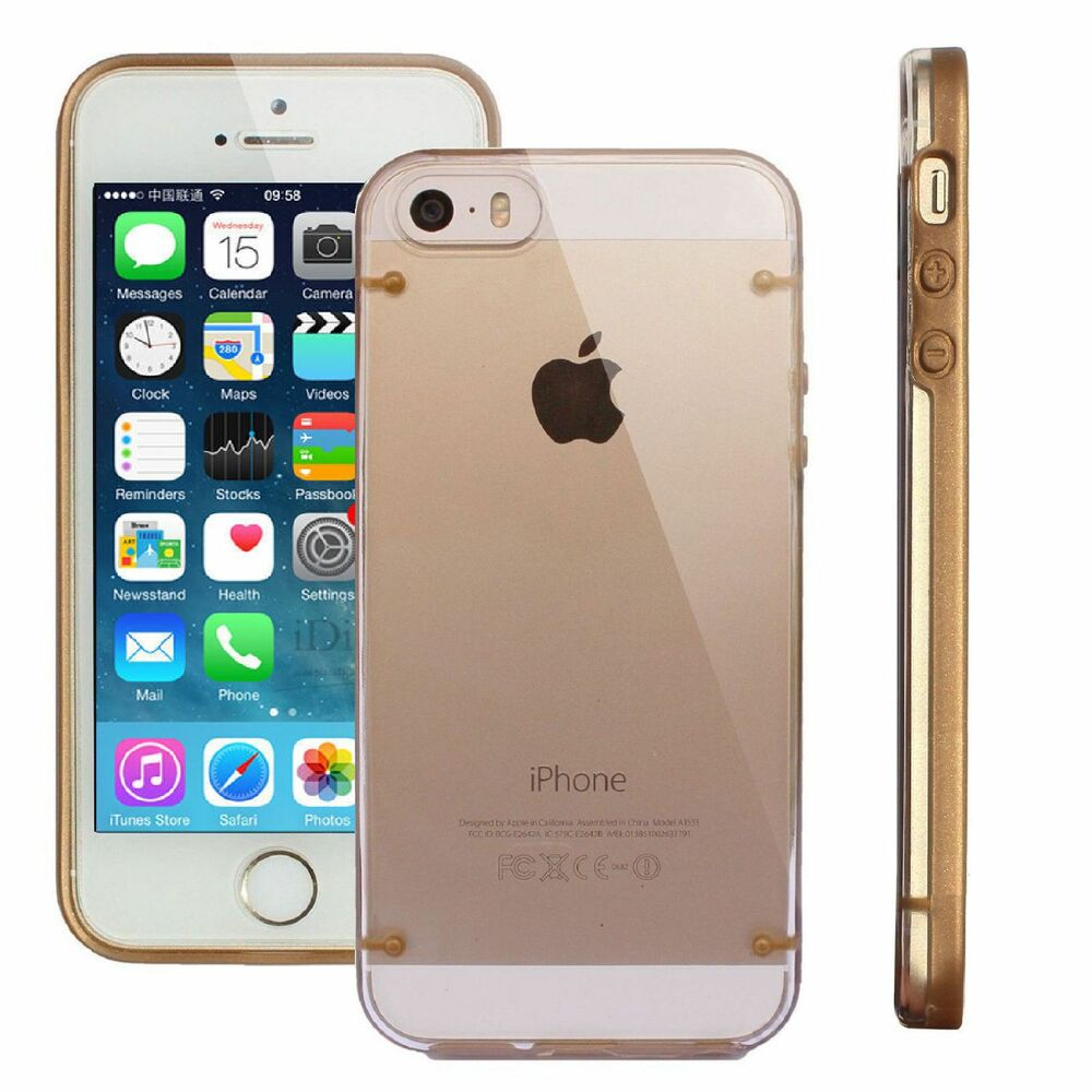 Iphone 5s Cases Gold Frame Luxury Hard Back...