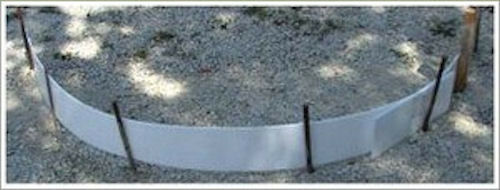 Plastic forms for concrete flatwork 12 inch ebay for Concrete log forms