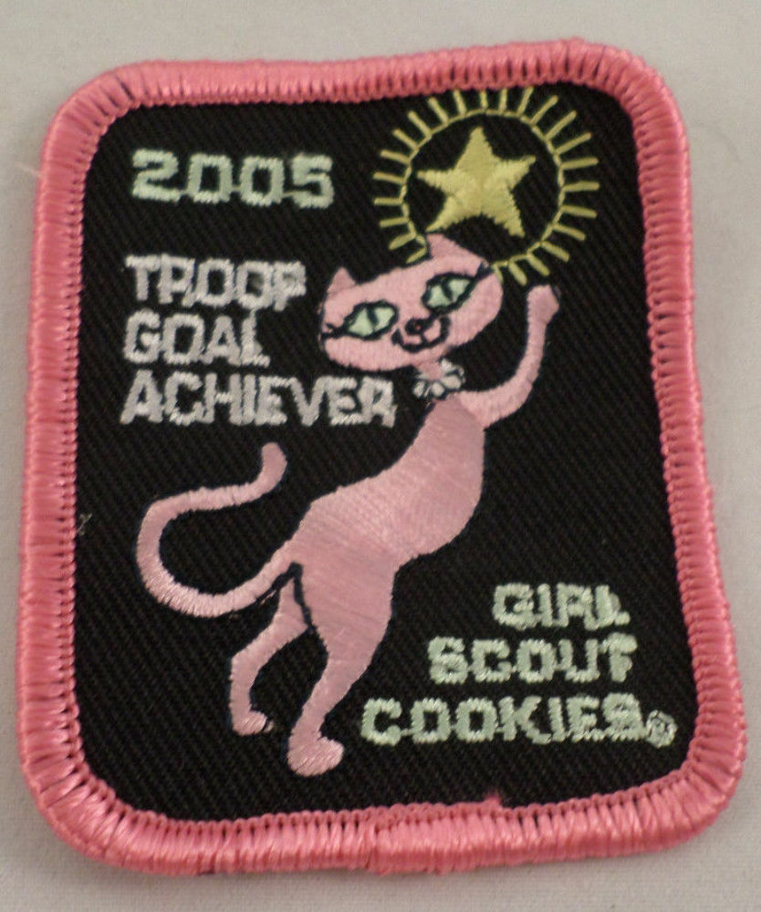 girl scout patch troop goal achiever 2005 siamese kitten