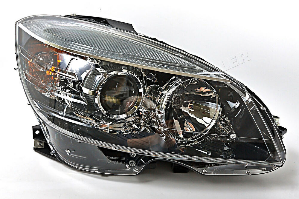 Mercedes c class w204 2008 2011 halogen headlight front for Mercedes benz c300 aftermarket accessories