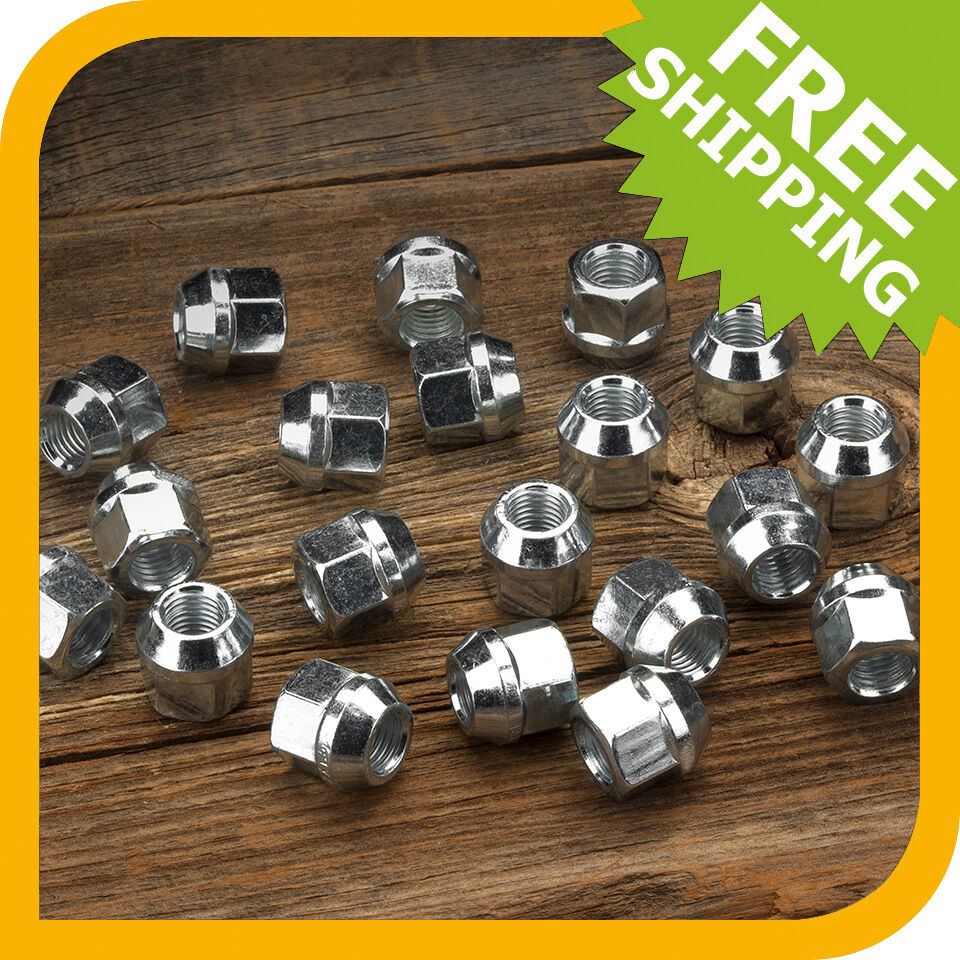 Set Of 20 Lug Nuts Fits Most Ford Cars And Trucks- 1/2x20
