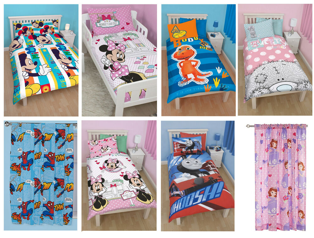 Kids Tv Character Disney Bed Quilt Duvet Cover Sets Matching Curtains New Ebay