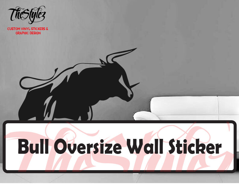 bull oversize wall vinyl sticker ebay oversize jungle animals tree monkey owl removable wall