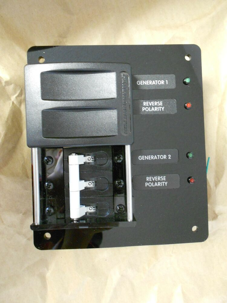 source selector panel 50 amp with heavy duty marine grade. Black Bedroom Furniture Sets. Home Design Ideas