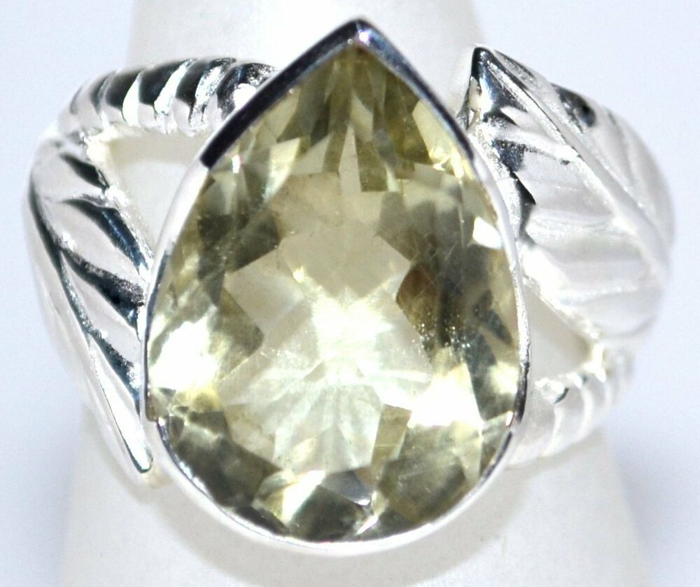 unique sterling silver ring green amethyst rings genuine