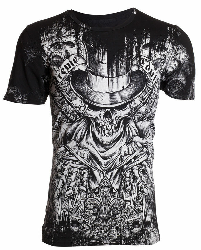 Xtreme couture affliction men t shirt offering skulls for Mens affliction t shirts
