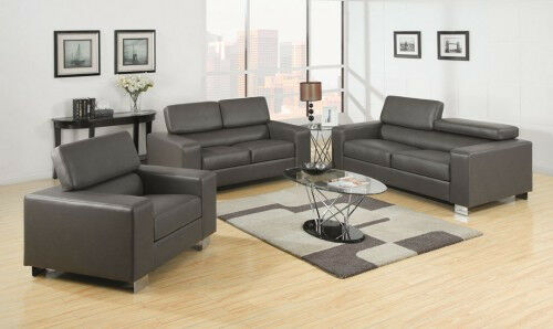 Modern Living Room Sofa Set Collection With Loveseat Chair In 2 Colors