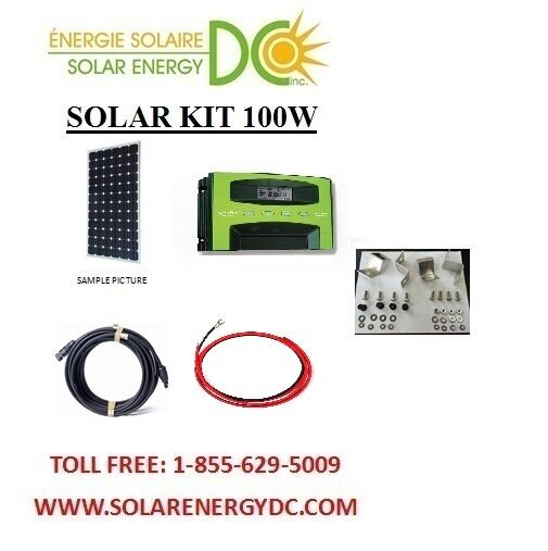 solar panel kit panneau solaire 100 watt mono mppt 30a. Black Bedroom Furniture Sets. Home Design Ideas