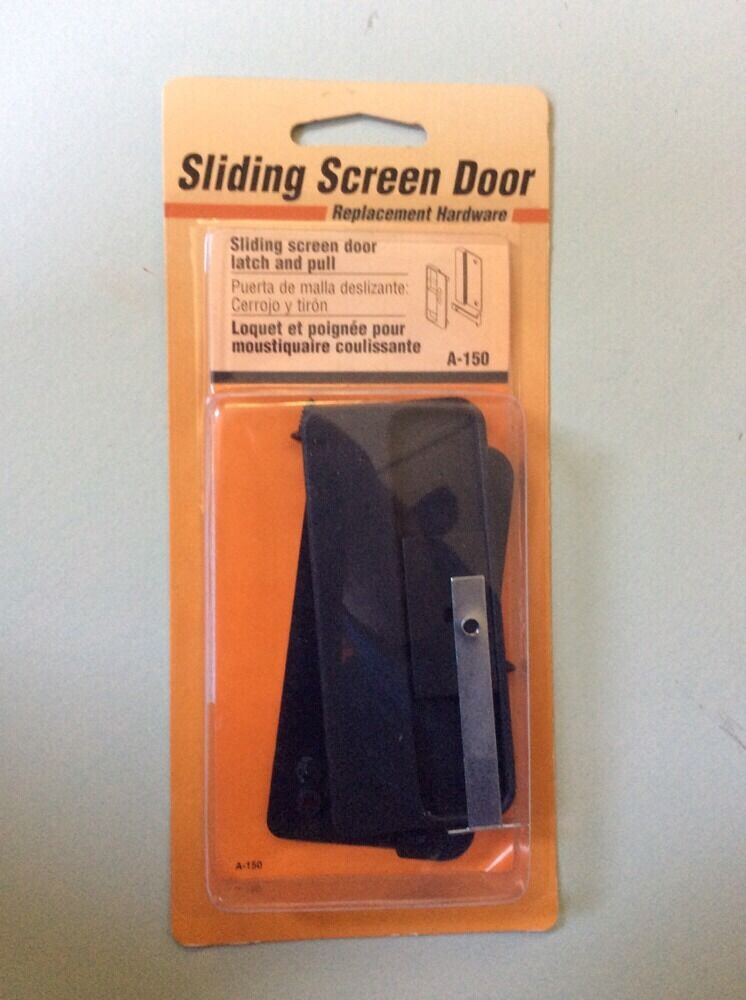 Sliding screen door latch and pull replacement hardware a for Sliding screen door repair