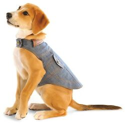 Denim Jean Jacket with Plaid Lining Nanotechnology Stays Clean Naturally for Dog