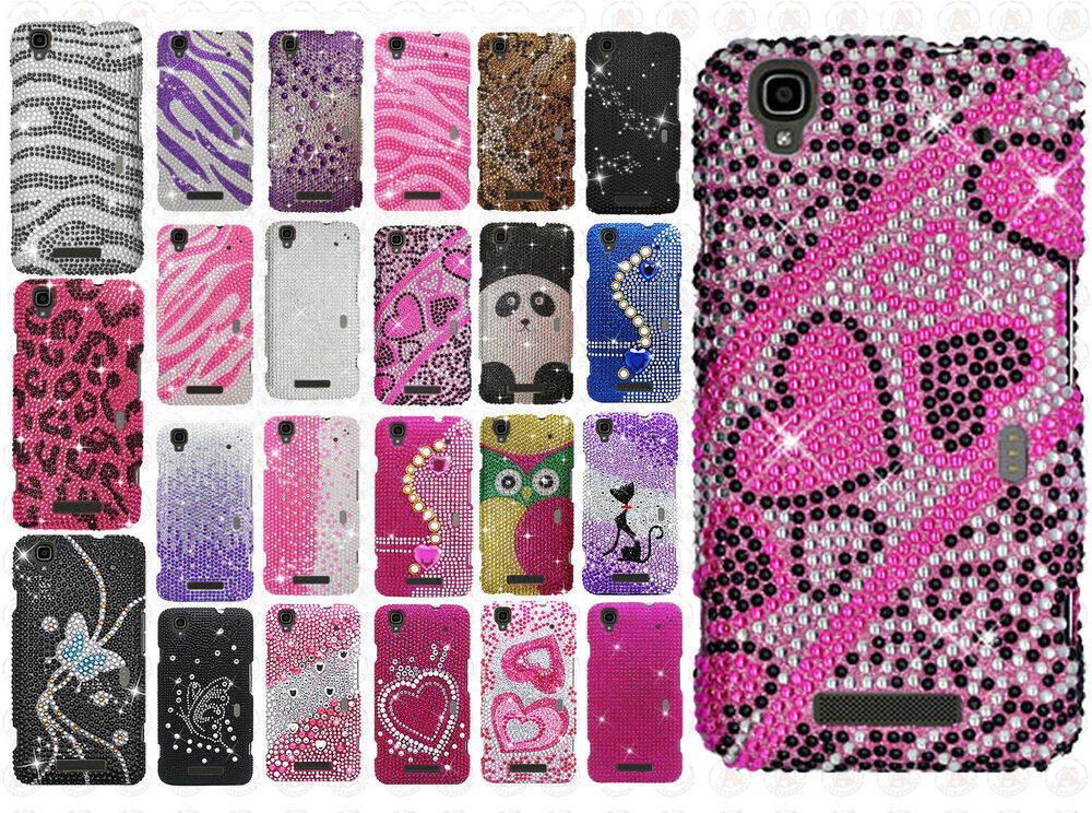 ... ZTE MAX N9520 Crystal Diamond BLING Case Snap On Phone Cover : eBay