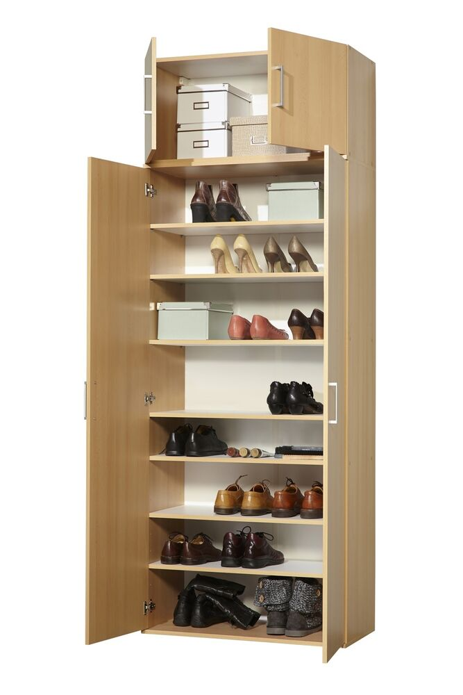 mehrzweckschrank schuhschrank schrank buche 80 x 178 x 39 cm neu ebay. Black Bedroom Furniture Sets. Home Design Ideas