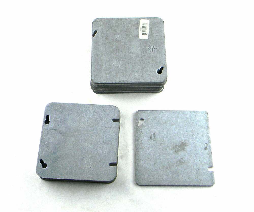 Lot Of 37 New 4 4 U0026quot  Square Electrical Box Cover Plates