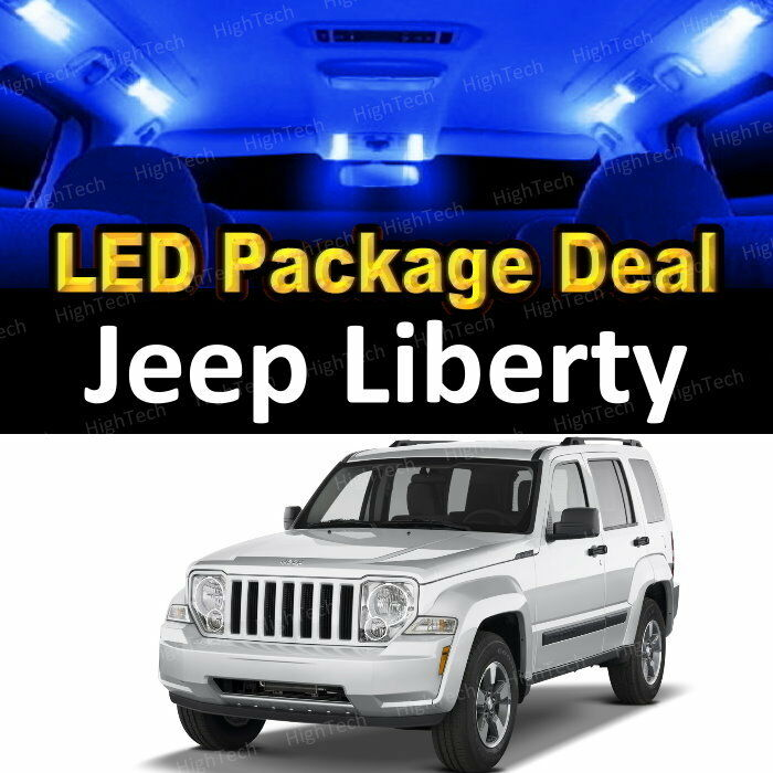 8x Blue Led Interior Package Kit License Plate For 2002 2003 Jeep Liberty Ebay