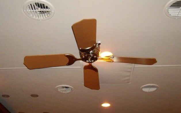 12 Volt Fans For Rv : Volt electric remote ceiling fan rv motorhome brass