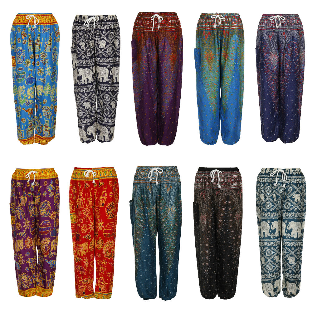 Popular  Women Full Length Casual Harem Pants Skinny Trousers Leggings UK SIZE
