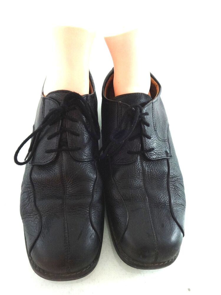 bass mens black leather oxfords dress shoes size 13 m ebay