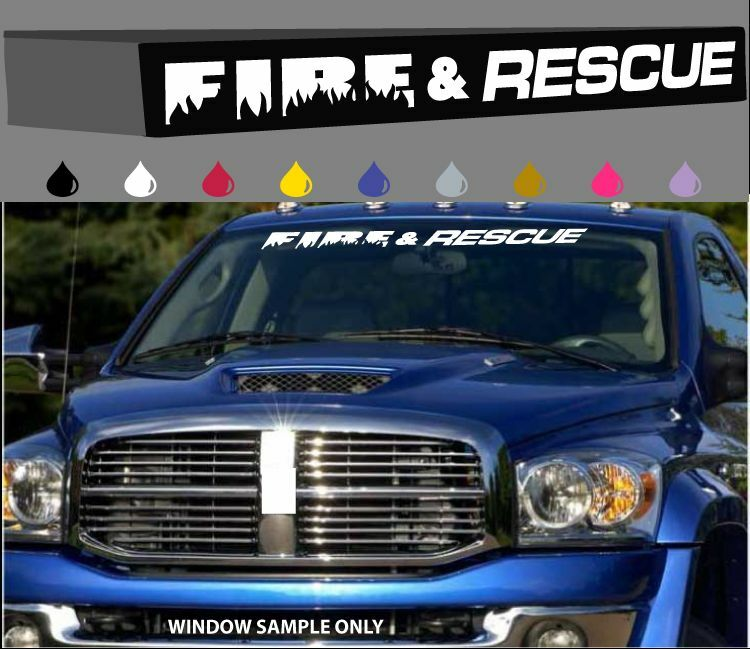 Fire Rescue Label & Save Pets Window Decal with Dog ...  |Rescue Window Decals