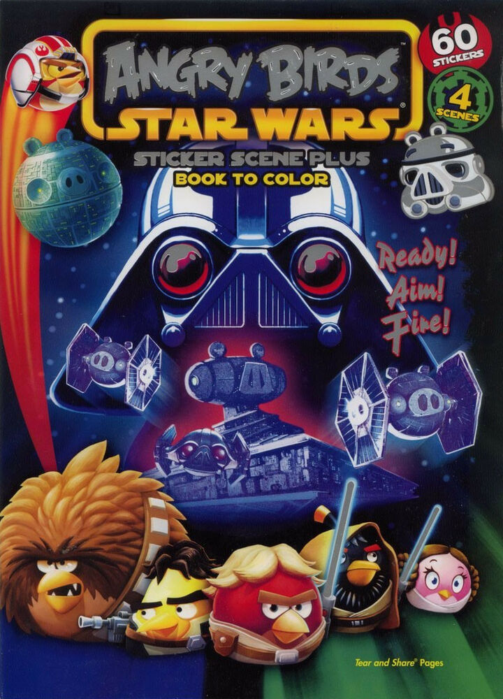 Angry Birds Star Wars Coloring Book Rare Unused Ebay