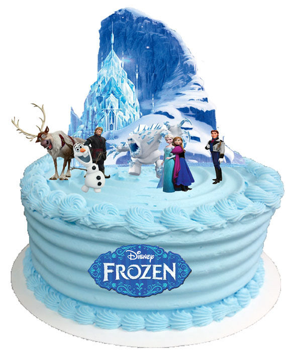 FROZEN DISNEY 1 SET CAKE STANDS UP TOPPERS WAFER CARD logo ...