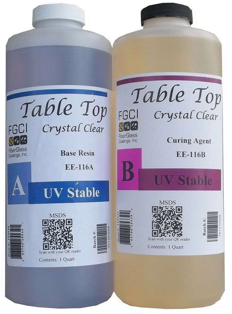 Best Two Part Epoxy : Epoxy table top resin quart kit crystal clear