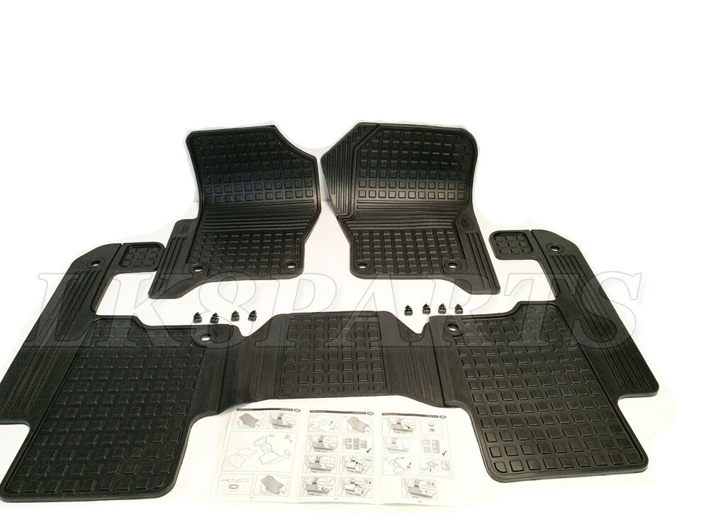 Land Rover Lr3 05 07 Floor Mat Rubber Set Eah500050pma