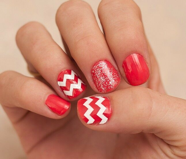Chevron Zig Zag Thick Nail Decal Vinyl Sticker Nail Art