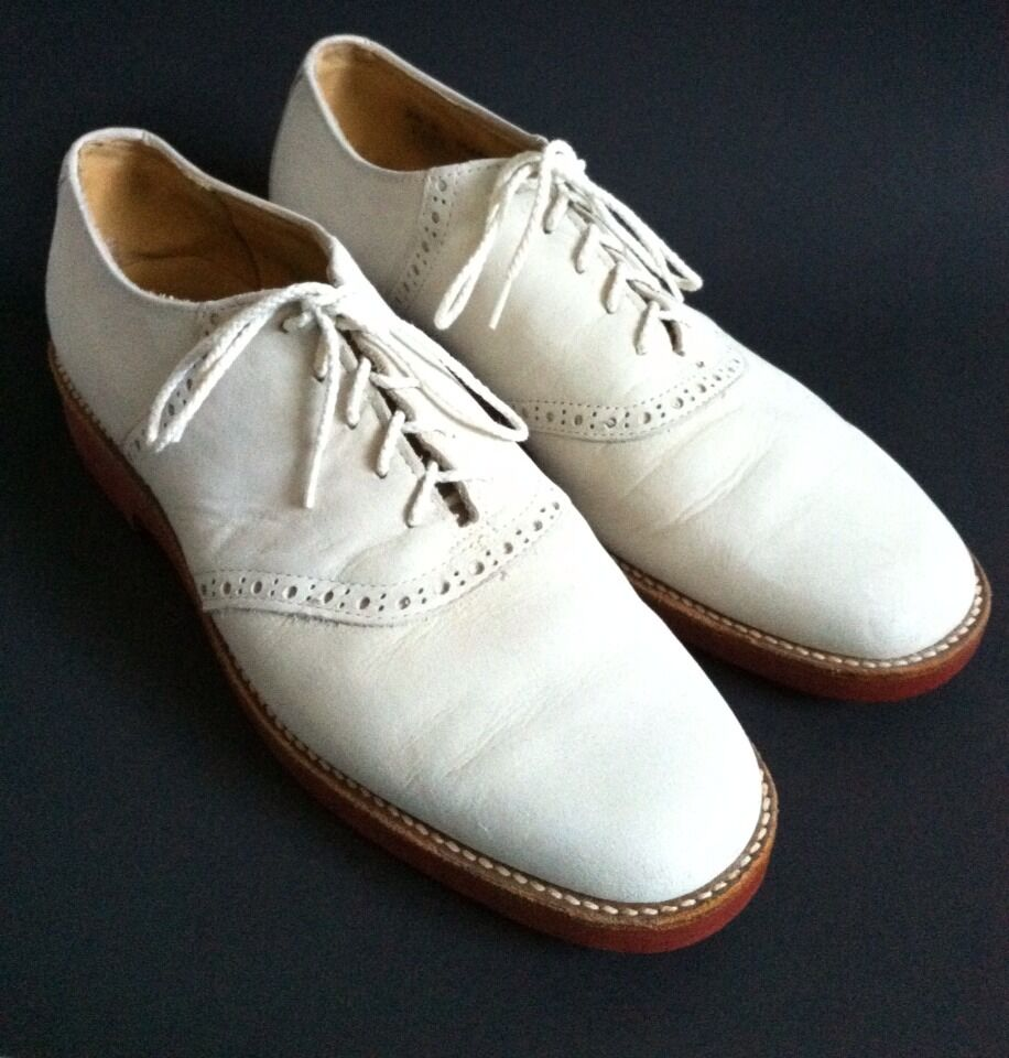 s churchill ivory suede wingtip oxford casual dress