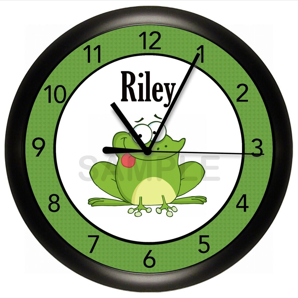 TREE FROG WALL CLOCK PERSONALIZED GIFT FUNNY GREEN ART ...