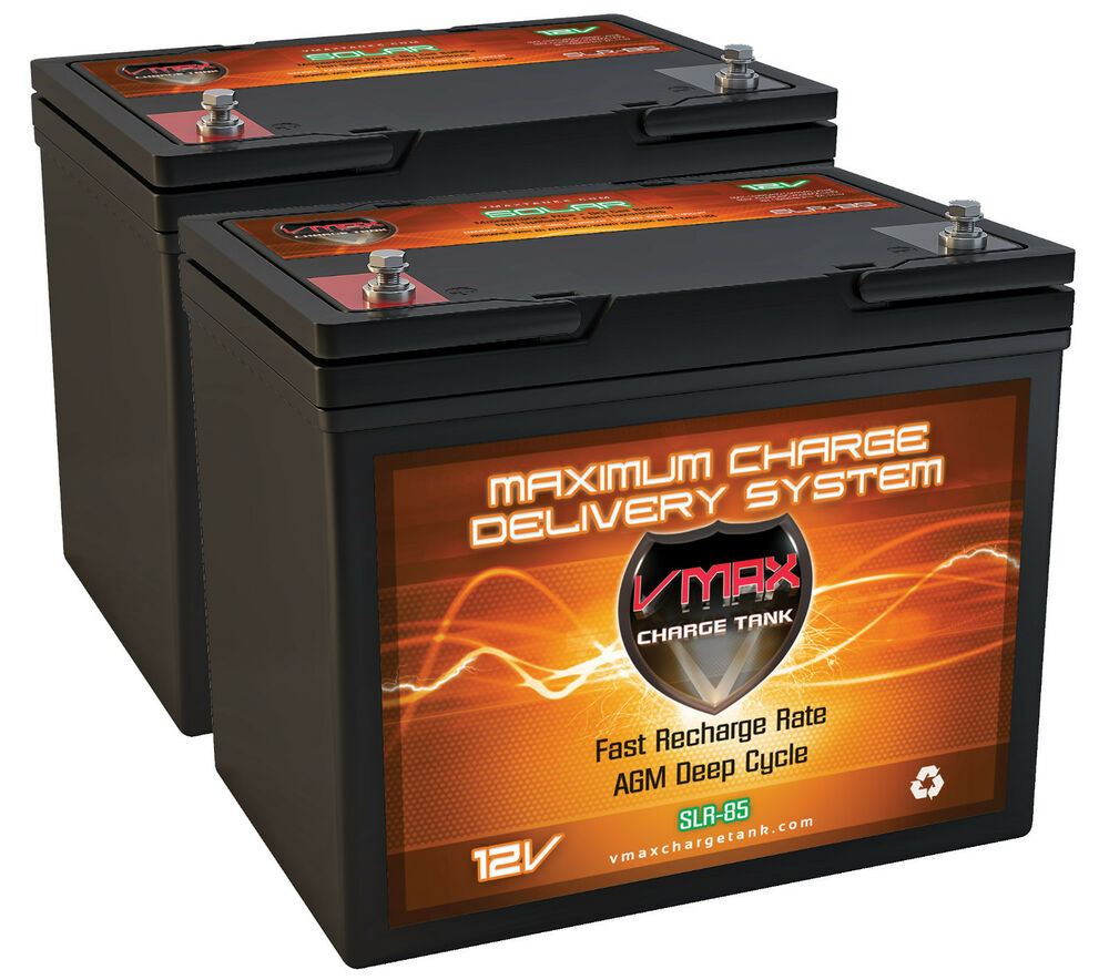 qty2 vmax slr85 12 volt 85ah agm deep cycle sla battery. Black Bedroom Furniture Sets. Home Design Ideas