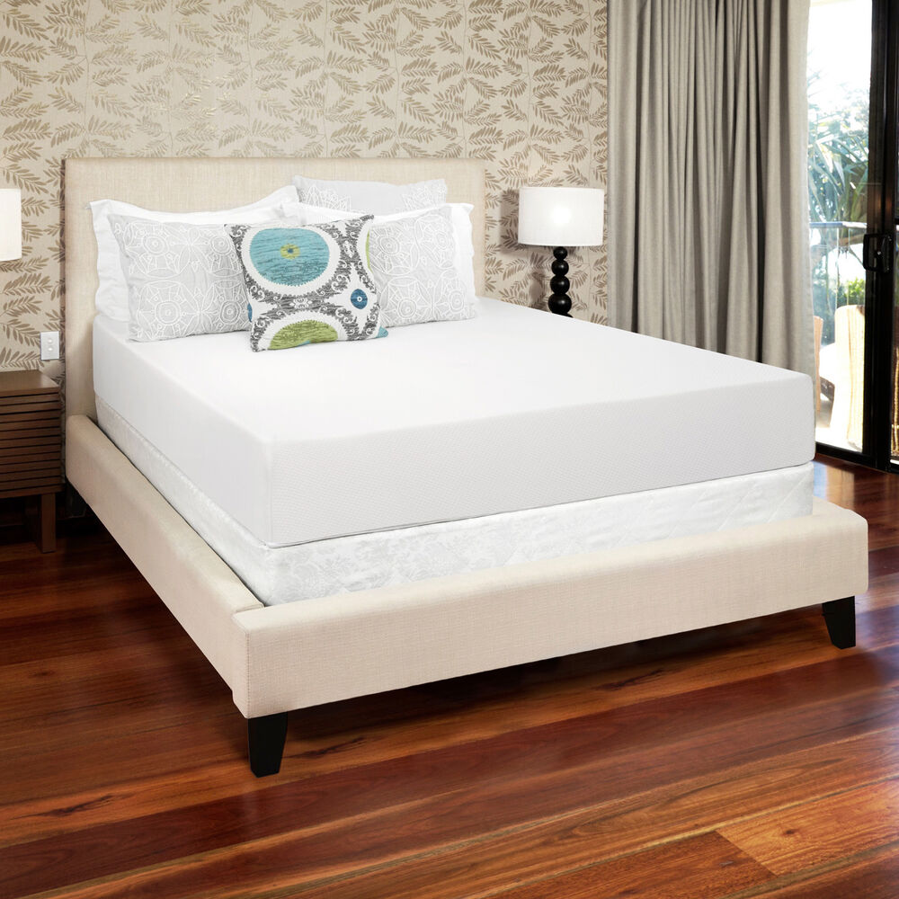 Select Luxury Gel Memory Foam 10 Inch Queen Size Medium Firm Mattress Ebay