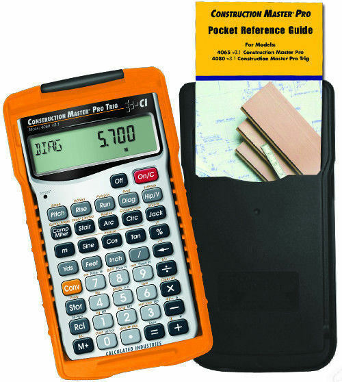 Calculated industries construction master pro trig for Building estimator