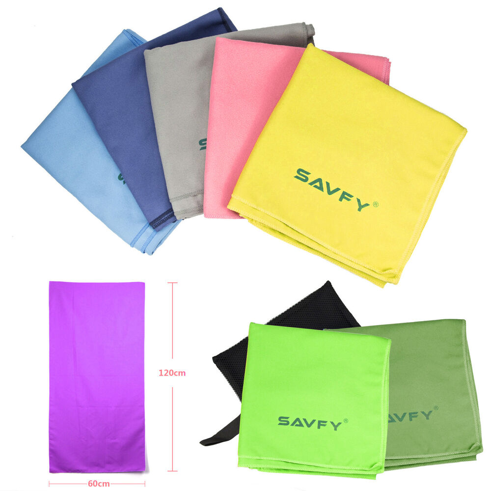 Largest Microfiber Towel: 120x60cm Large Absorbent Microfiber Towel Beach Bath