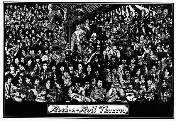 a rock 39 n 39 roll theatre poster can you name them all ebay