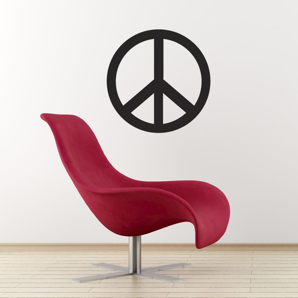 peace symbol wall sticker peace sign wall decal colour peace sign wall decals amp wall stickers zazzle