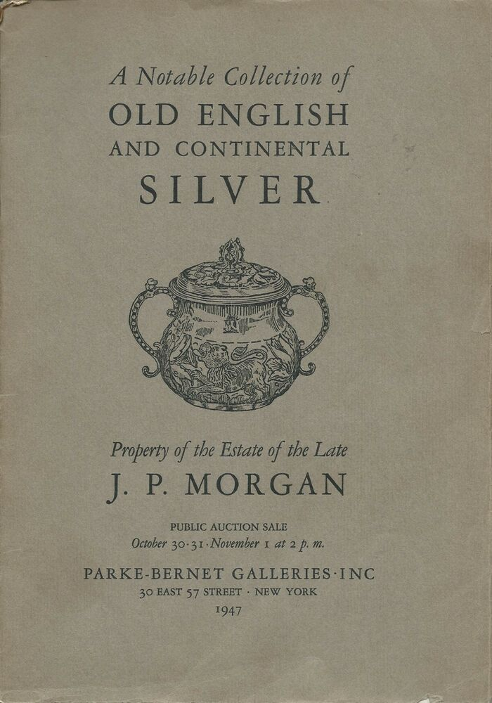 Pb Notable Collection Old English Continental Silver Jp