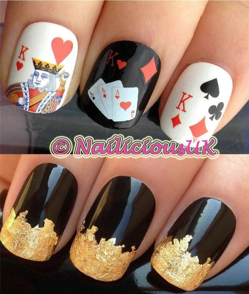 Nail Art Set 157 Casino Playing Cards Water Transfersdecalstickers
