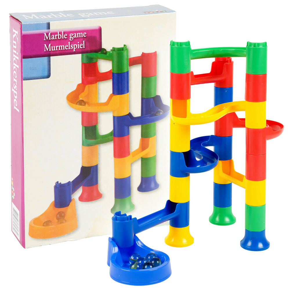 Building Toys Sets : Kids marble run race construction kit childrens toy