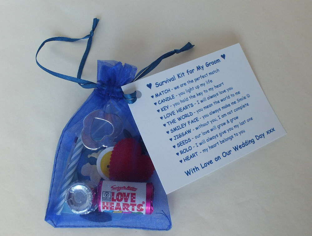 Gift Ideas For Groom On Wedding Day: Groom Survival Kit Fun Present Novelty Gift From Bride On