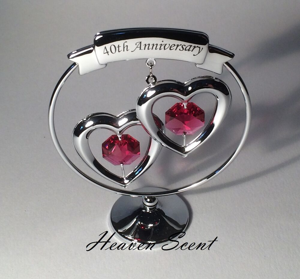 40 Year Wedding Anniversary Gift Ideas: 40th Ruby Wedding Anniversary Gift Ideas With Swarovski