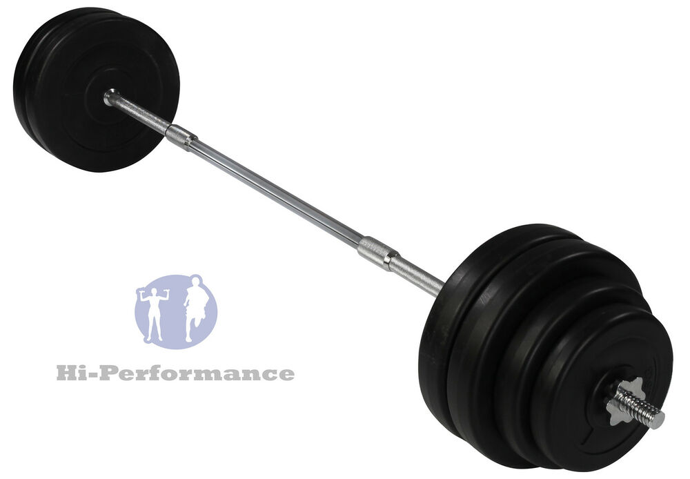 New 60kg Barbell Weightlifting Set For Bench Press Curls Rows Ect Weights Bar Ebay