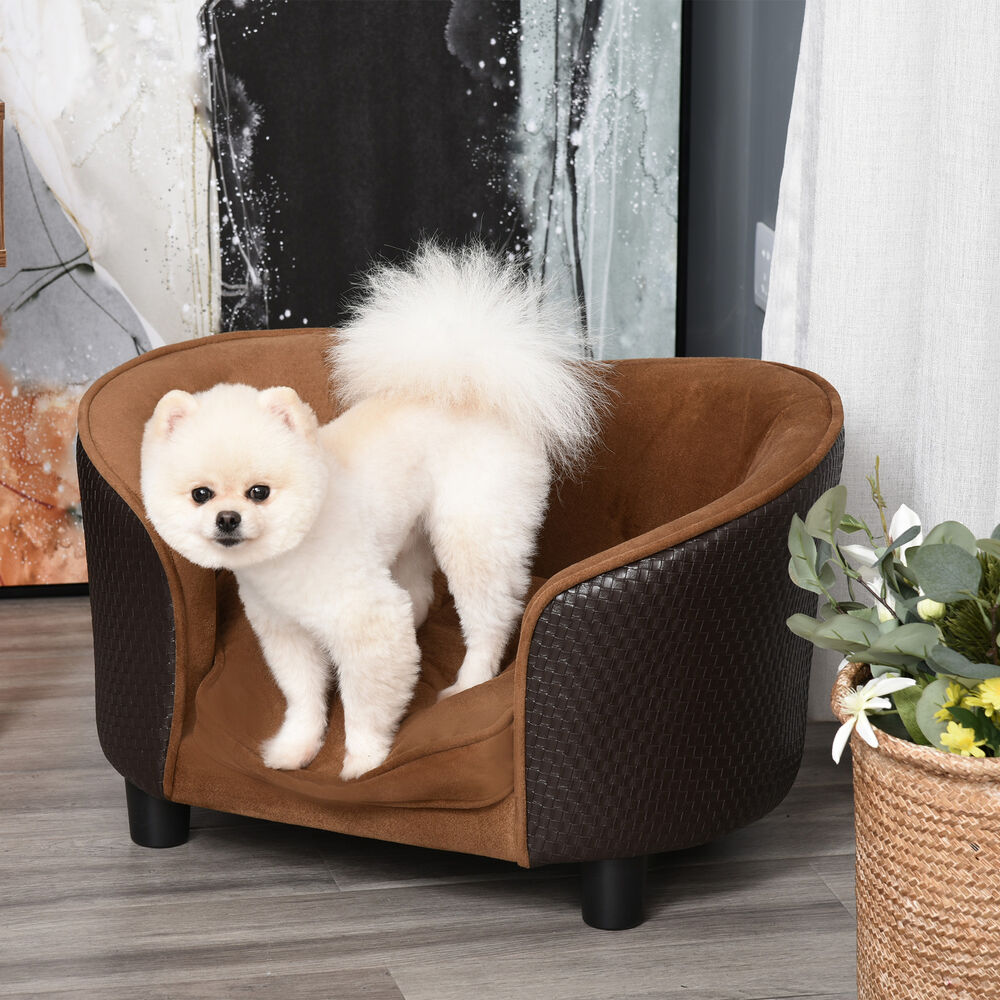 Pawhut Pets Lounge Sofa Bed W Cushion Luxury Plush